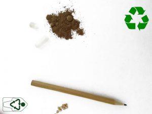 capsula con semillas para hacer un sprout lapiz