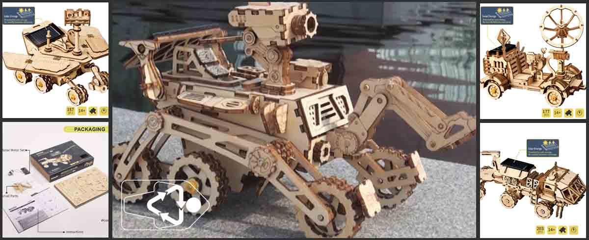 Los juguetes ecologicos solares de robotime son juguetes de madera didácticos ideales para educacion ambiental