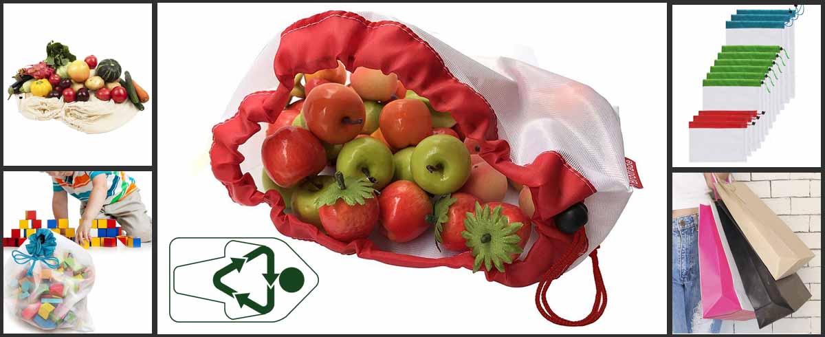 Bolsas reutilizables de tela para hacerla compra